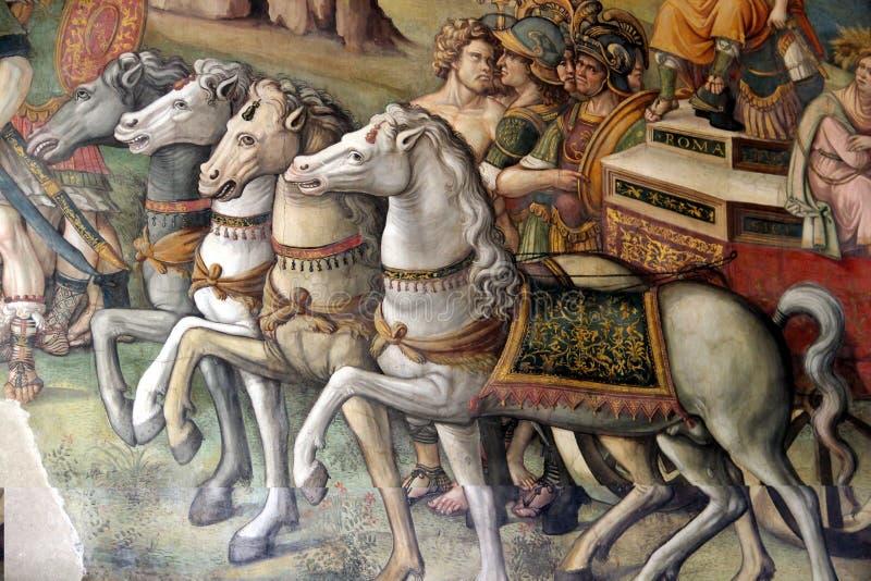 Museos de Capitoline - Frescoe en el Pasillo de Hannibal fotografía de archivo libre de regalías