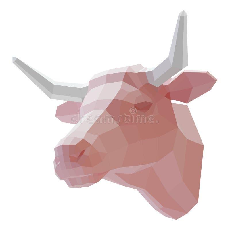 museruola 3d di una mucca illustrazione vettoriale