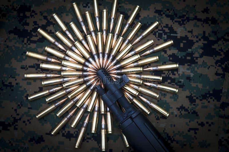Download Museruola Del Fucile E. Munizioni Di Calibro 308 Immagine Stock - Immagine di lotti, munizioni: 30828407
