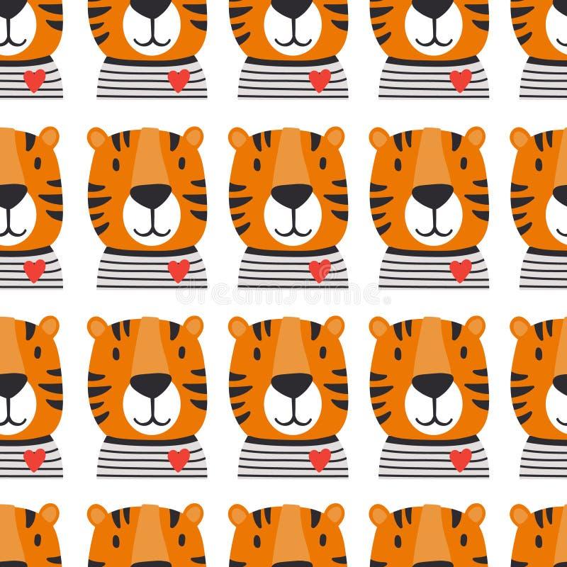 Museruola delle tigri, modello senza cuciture royalty illustrazione gratis