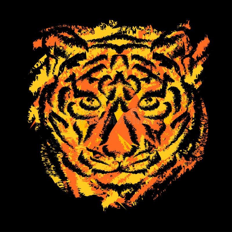 Museruola stilizzata della tigre royalty illustrazione gratis