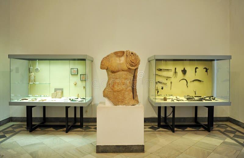 Museu arqueológico de Sevilha, a Andaluzia, Espanha imagem de stock