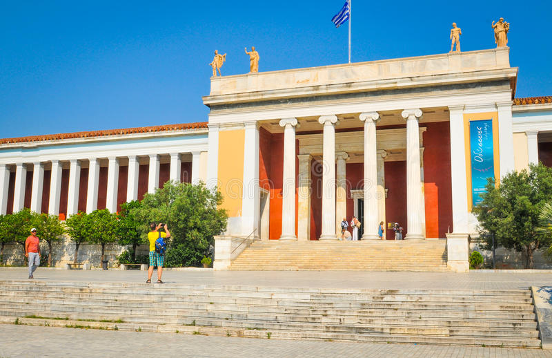 Museu arqueológico nacional em Atenas, Grécia imagem de stock