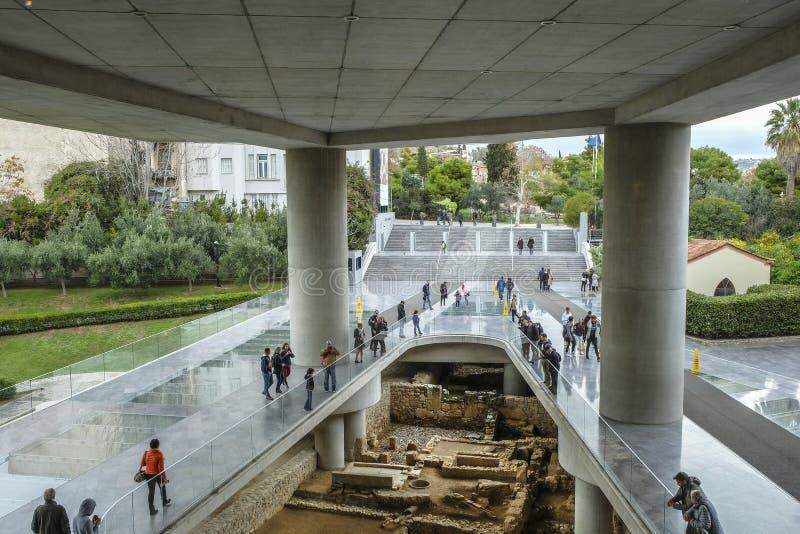 Museu Atenas da acrópole em Atenas, Grécia fotografia de stock royalty free