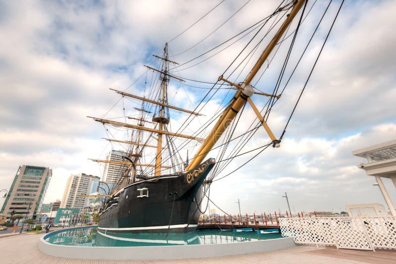 Museu Corbeta Esmeralda, uma réplica do La afundado Esmeralda do navio fotografia de stock royalty free