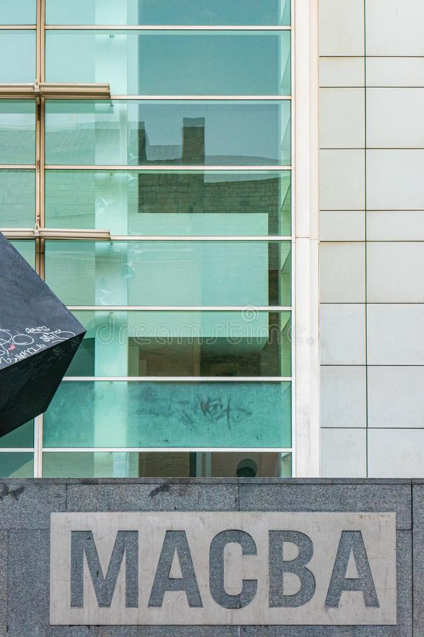 The Contemporary Art Museum of Barcelona, Catalunya, Spain. The `Museu d`Art Contemporani de Barcelona`, Contemporary Art Museum of Barcelona, Catalunya, Spain royalty free stock images