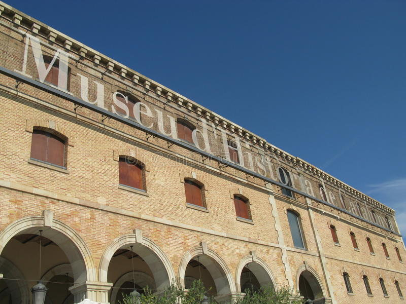 Museu d'Historia de Catalunya stock images