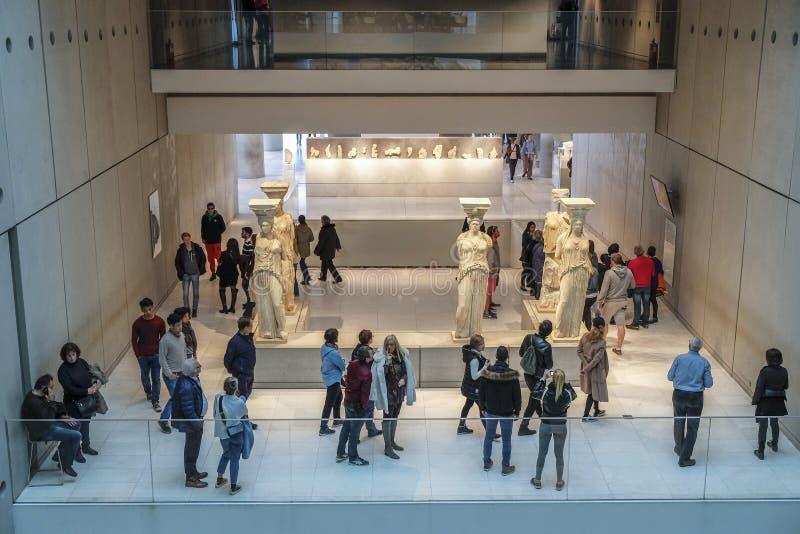 Museu da acrópole em Atenas, Grécia fotografia de stock royalty free