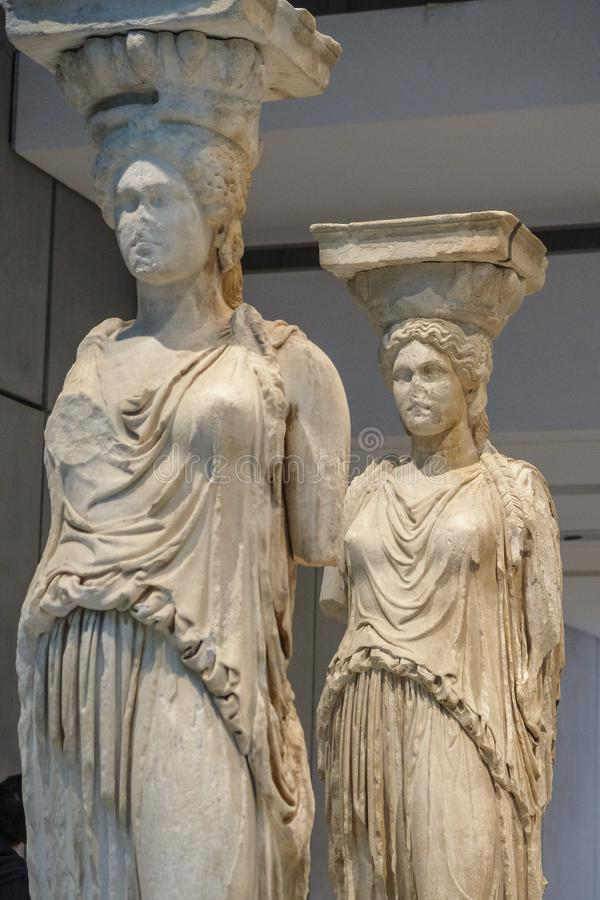 Museu da acrópole em Atenas, Grécia fotos de stock