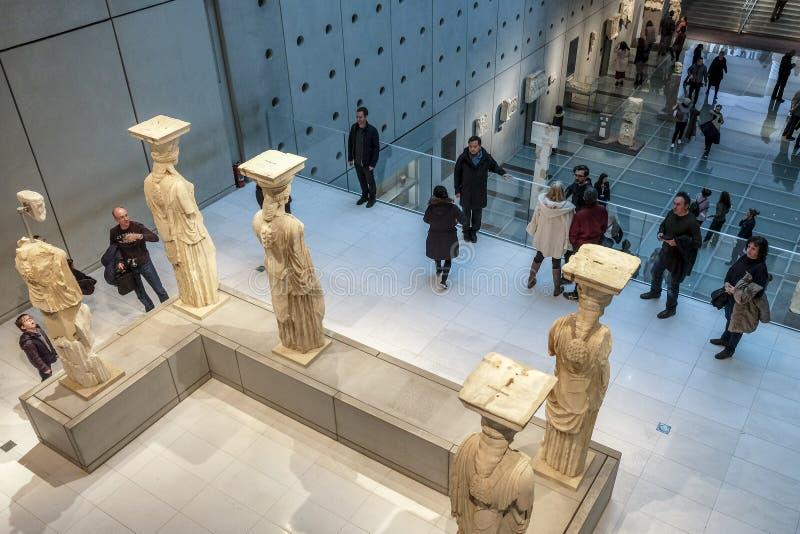 Museu da acrópole em Atenas, Grécia fotografia de stock