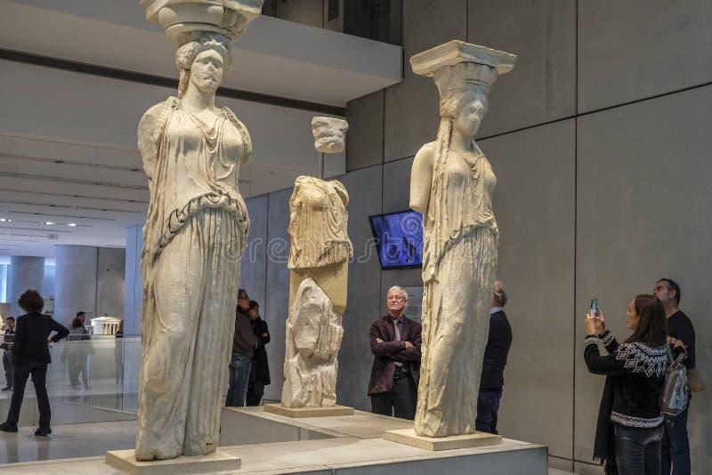 Museu da acrópole em Atenas, Grécia foto de stock royalty free