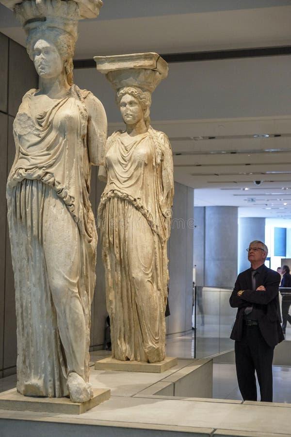 Museu da acrópole em Atenas, Grécia foto de stock