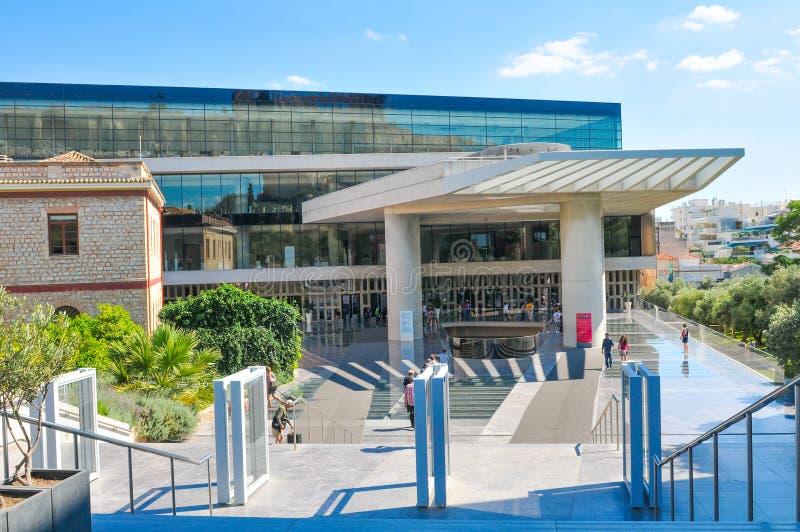Museu da acrópole em Atenas, Grécia imagens de stock