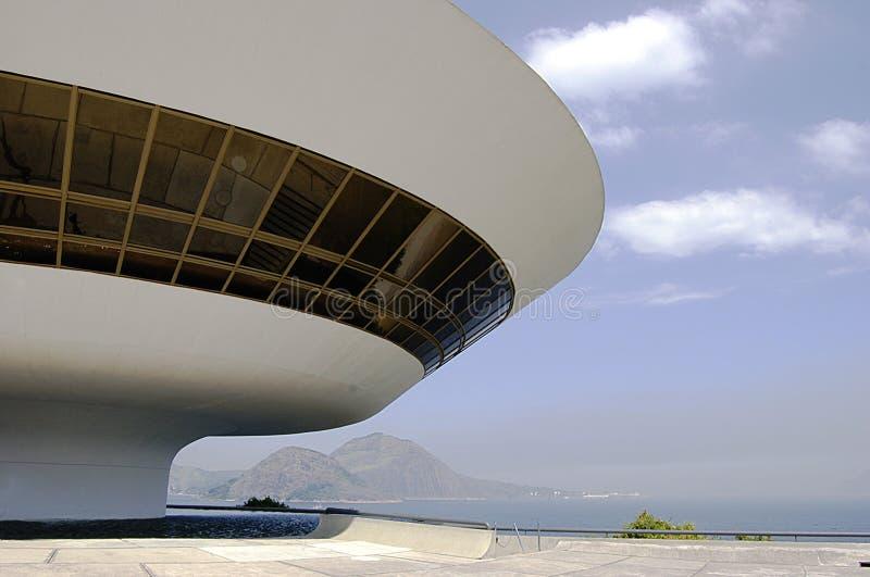 Museu da arte contemporânea de Niterói (MAC) imagem de stock