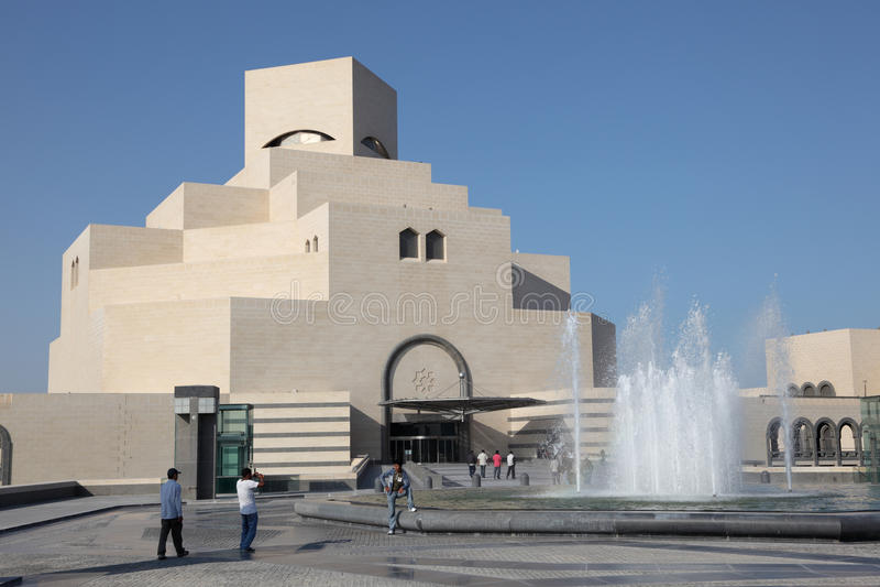Download Museu Da Arte Islâmica Em Doha Foto Editorial - Imagem de baía, arabian: 26500876