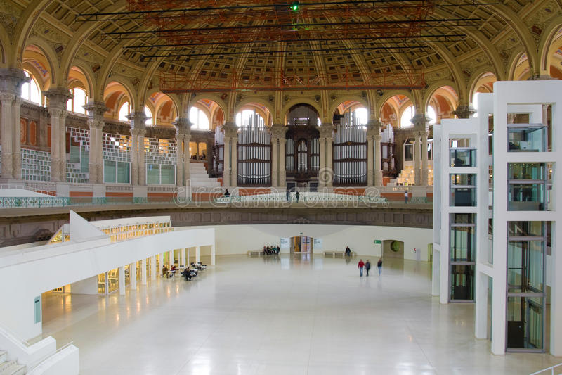 Museu da arte nacional de Catalonia foto de stock royalty free