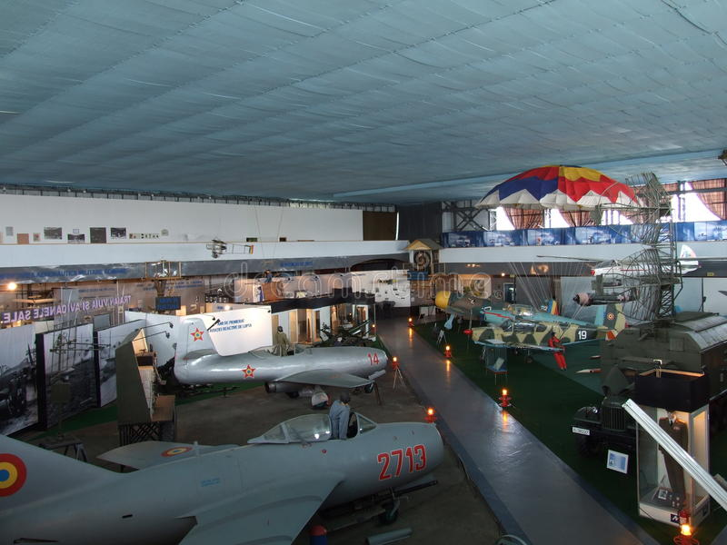 Museu da aviação fotografia de stock
