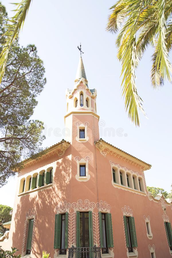 Museu da casa de Antonio Gaudi imagens de stock royalty free