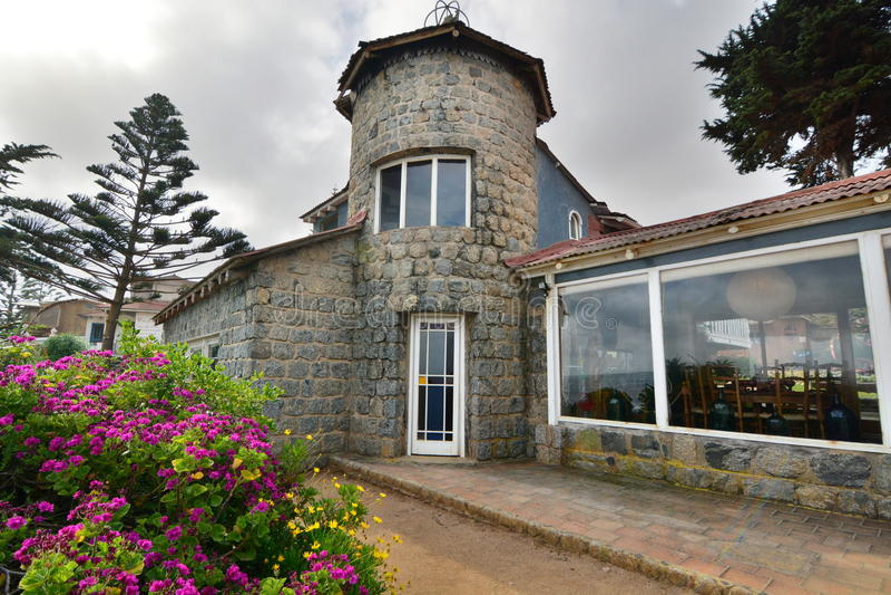 Museu da casa do de Isla Negra da casa de Pablo Neruda Isla Negra chile imagens de stock royalty free