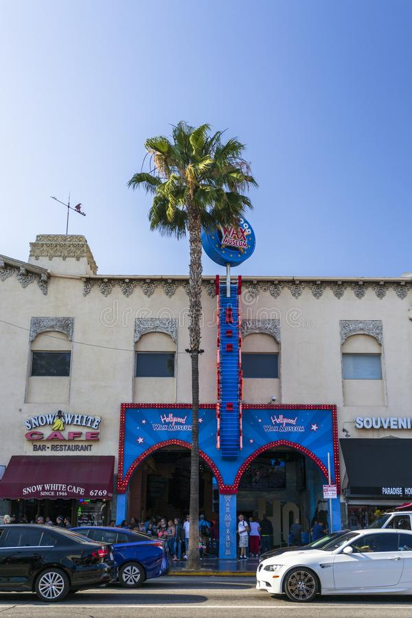 Museu da cera no bulevar de Hollywood, Hollywood, Los Angeles, Califórnia, Estados Unidos da América, America do Norte fotos de stock royalty free