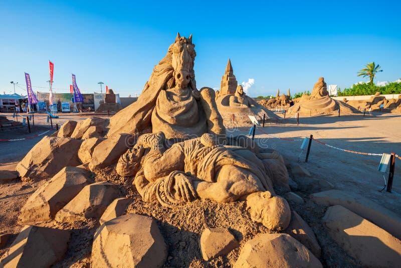 Museu da escultura da areia de Antalya Sandland fotografia de stock