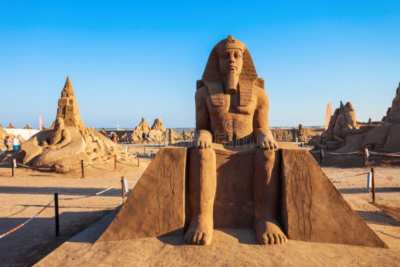 Museu da escultura da areia de Antalya Sandland imagem de stock