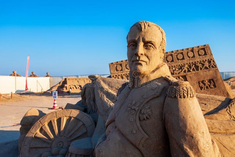 Museu da escultura da areia de Antalya Sandland fotografia de stock royalty free