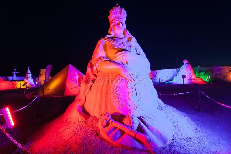 Museu da escultura da areia de Antalya Sandland imagens de stock