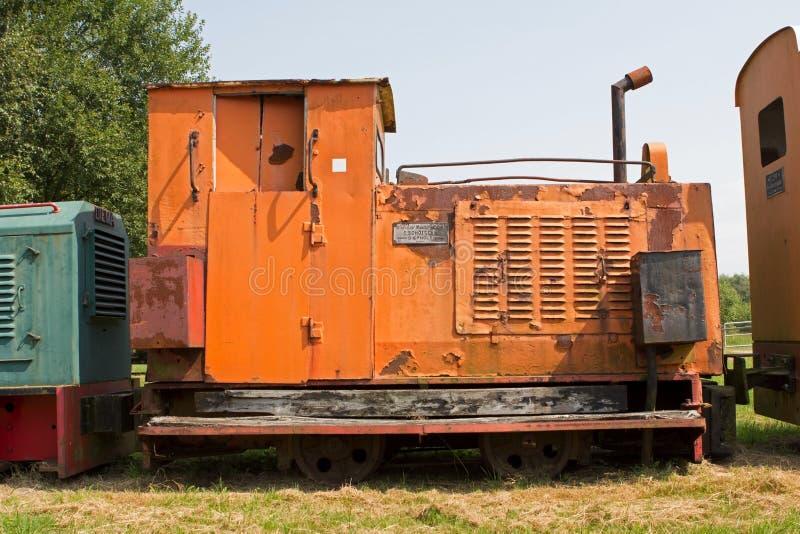 Museu da estrada de ferro em Erica, Países Baixos imagem de stock