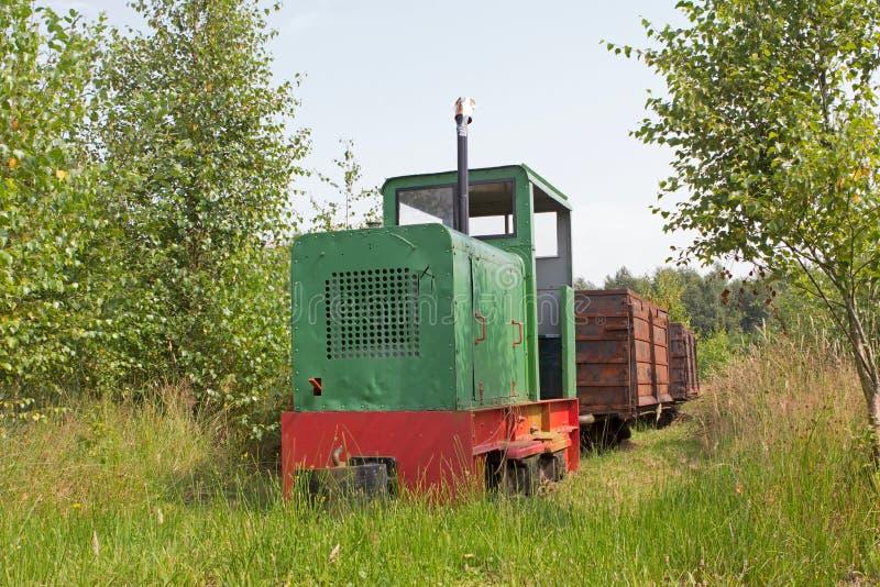 Museu da estrada de ferro em Erica, Países Baixos fotografia de stock