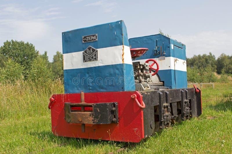 Museu da estrada de ferro em Erica, Países Baixos foto de stock royalty free