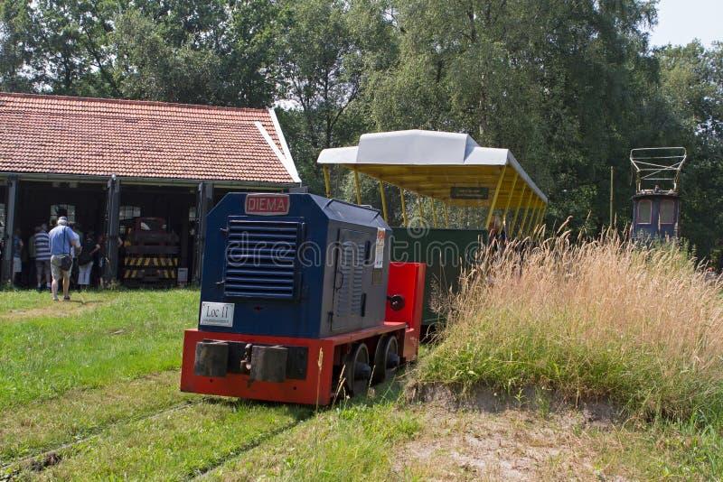 Museu da estrada de ferro em Erica, Países Baixos imagens de stock