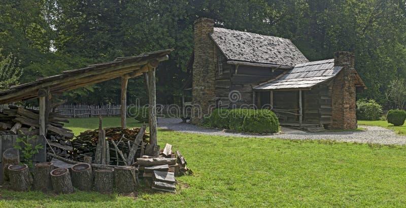 Museu da exploração agrícola da montanha no parque nacional de Great Smoky Mountains fotos de stock