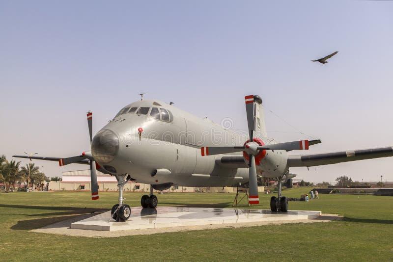 Museu da força aérea de Paquistão em Karachi fotografia de stock royalty free