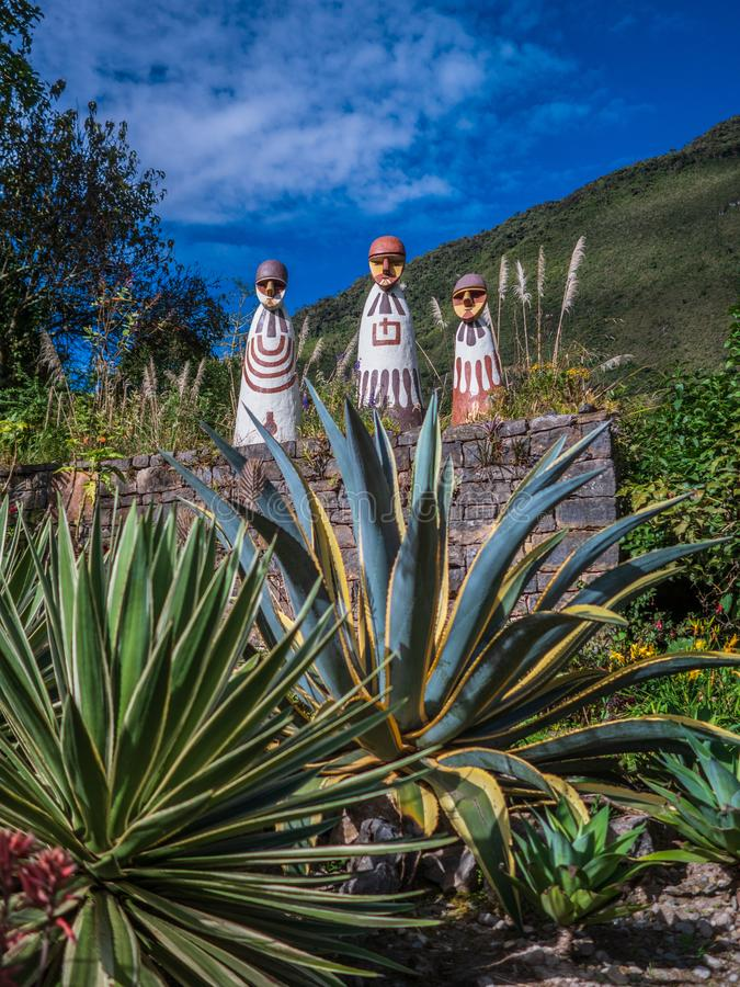 Museu da mamã na cidade de Leymebamba, Peru fotos de stock royalty free