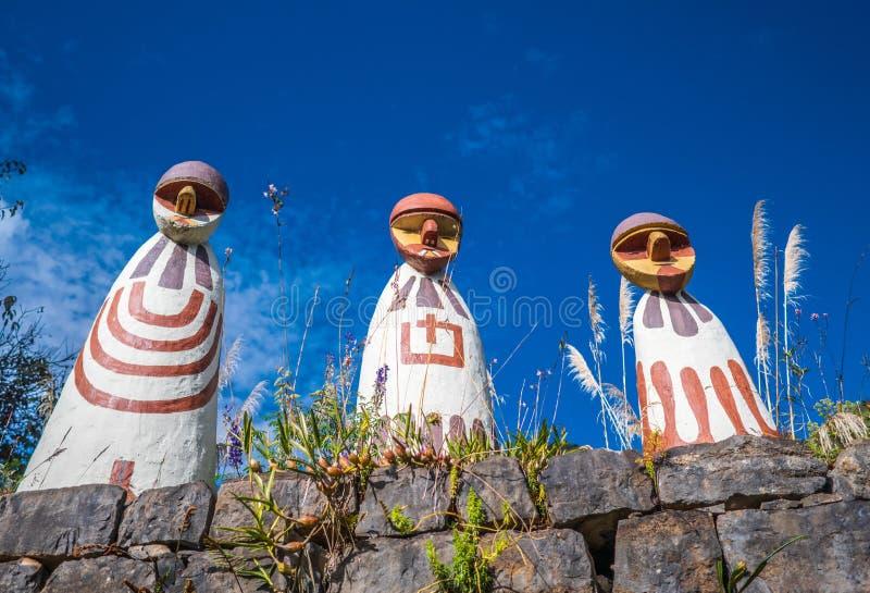 Museu da mamã na cidade de Leymebamba, Peru fotografia de stock