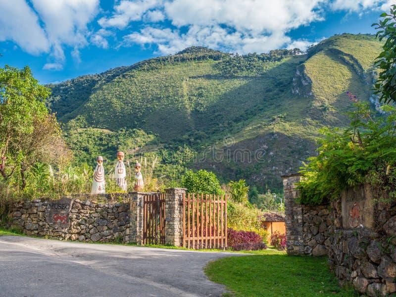 Museu da mamã na cidade de Leymebamba, Peru imagem de stock