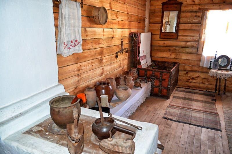Museu da vida do cossaco na vila de Pukhlyakovskaya no Don fotografia de stock
