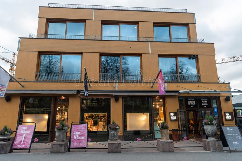 Museu de ABBA em Éstocolmo, Suécia fotografia de stock royalty free