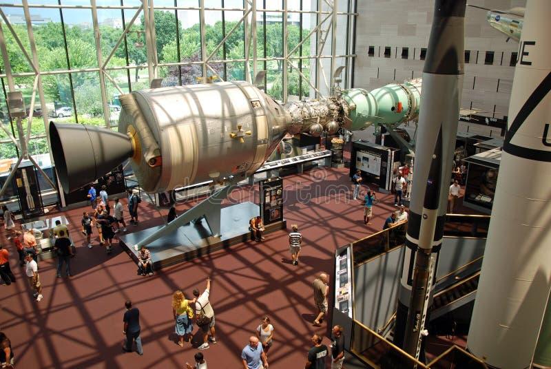Museu de ar nacional e de espaço imagem de stock