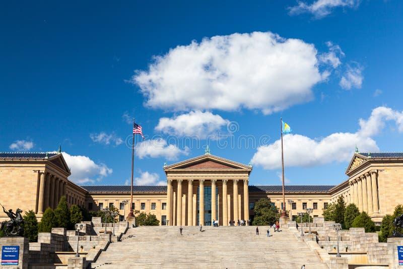 Museu de arte de Philadelphfia fotografia de stock