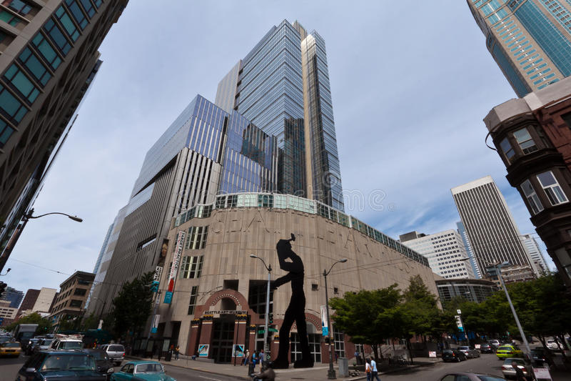 Museu de arte de Seattle imagens de stock