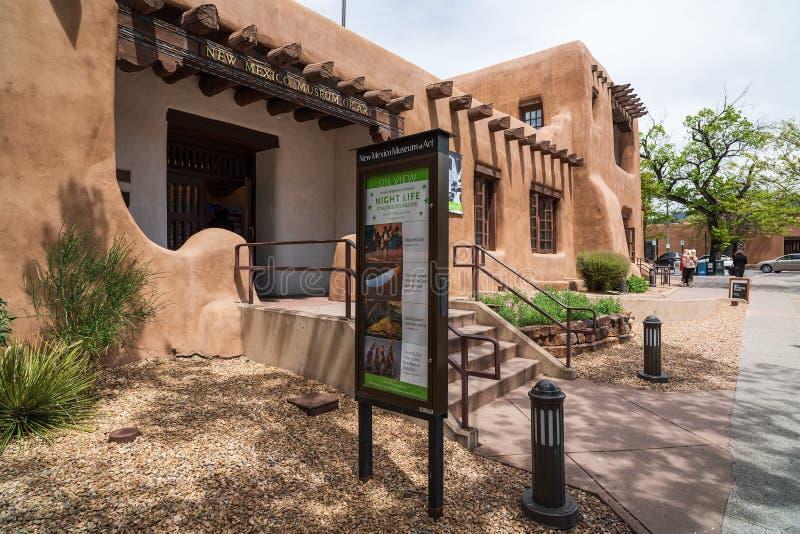 Museu de Arte do Novo México imagens de stock