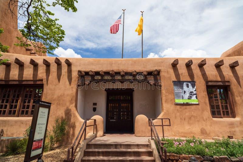 Museu de Arte do Novo México em Santa Fé, NM imagem de stock