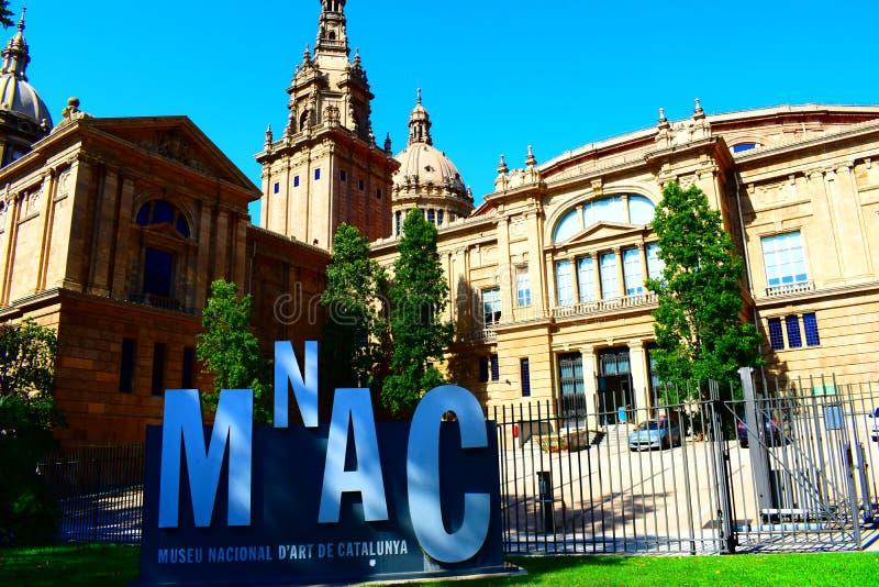 Museu de arte nacional de Catalonia fotografia de stock royalty free