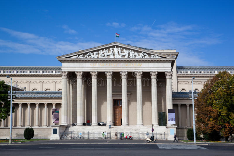 Museu de belas artes. Budapest, Hungria fotografia de stock