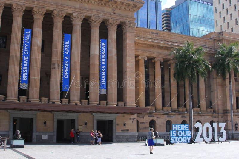 Museu de Brisbane na câmara municipal de Brisbane, Austrália imagem de stock royalty free