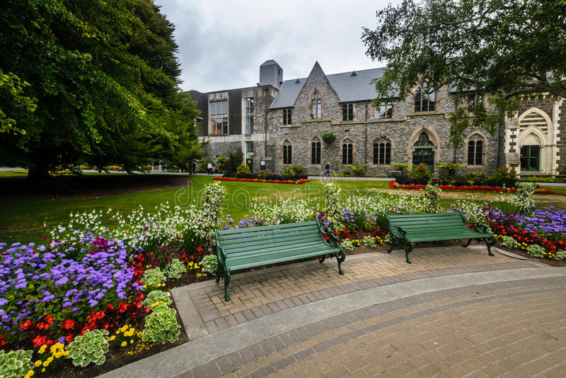 Museu de Canterbury e jardins, Christchurch, Nova Zelândia foto de stock