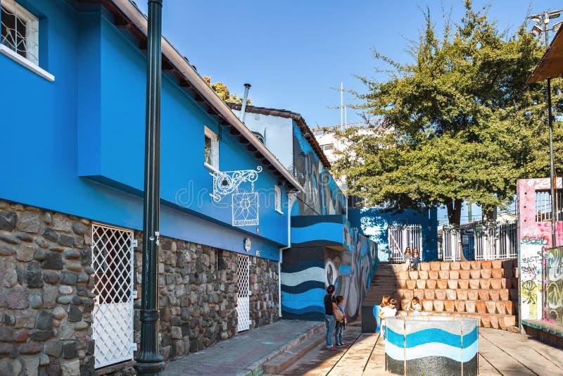 Museu de Chascona do La, a casa do poeta Pablo Neruda - Santiago, o Chile imagem de stock royalty free