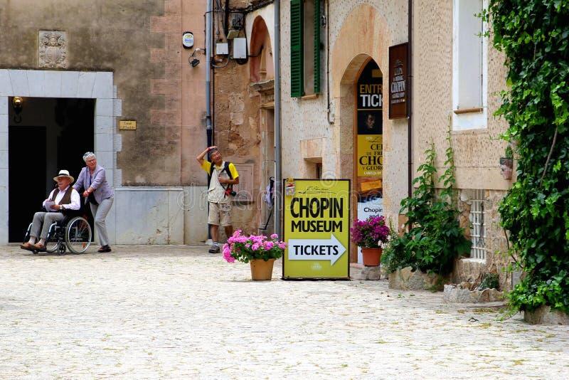 Museu de Chopin em Valldemossa, Majorca imagens de stock